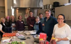 St. Bede's parishioners preparing a meal for residents of LifeMoves.