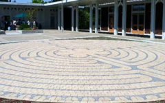 Labyrinth in St. Bede's courtyard