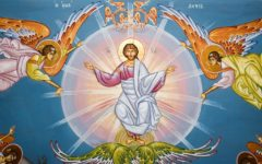 Painting commemorating the Ascension of Jesus into heaven